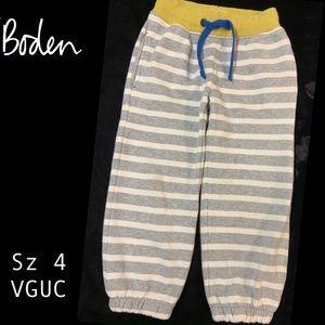 Boden Gray & Cream Stripe Joggers!  Sz 4.